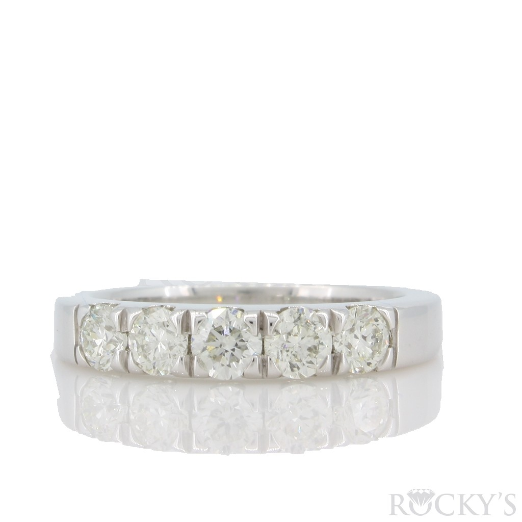 5 stone Diamond Band with 1 Carats
