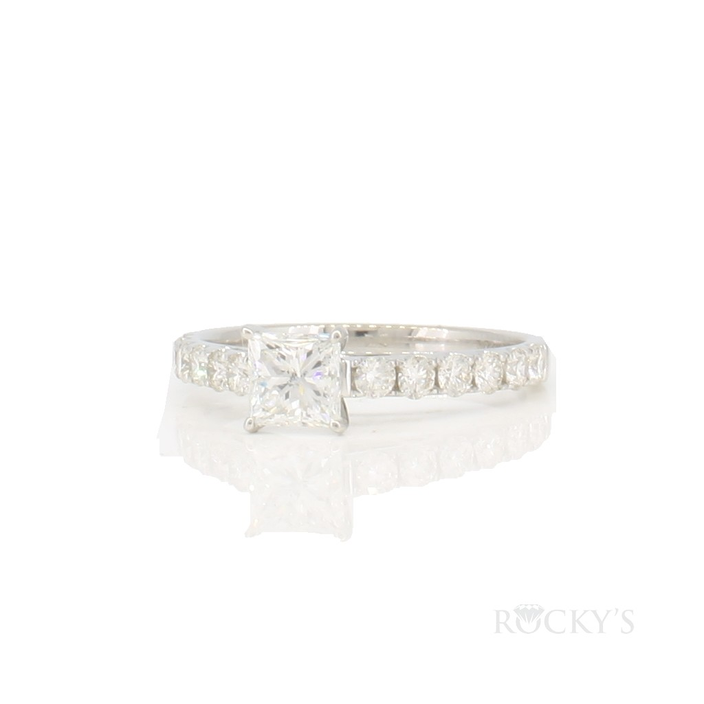 14k white gold engagement diamond ring with 1.25 carat
