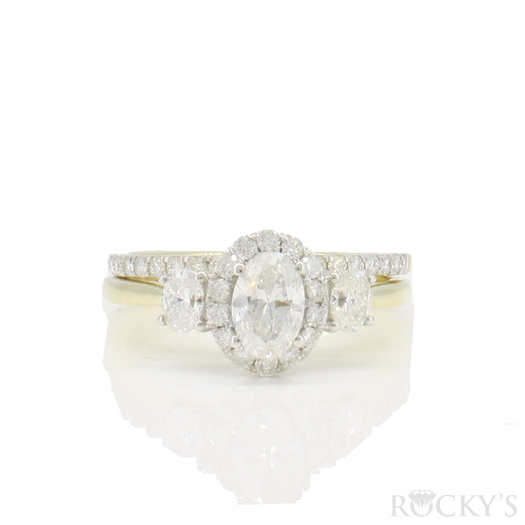 14k yellow gold engagement diamond ring with 1.20 ct