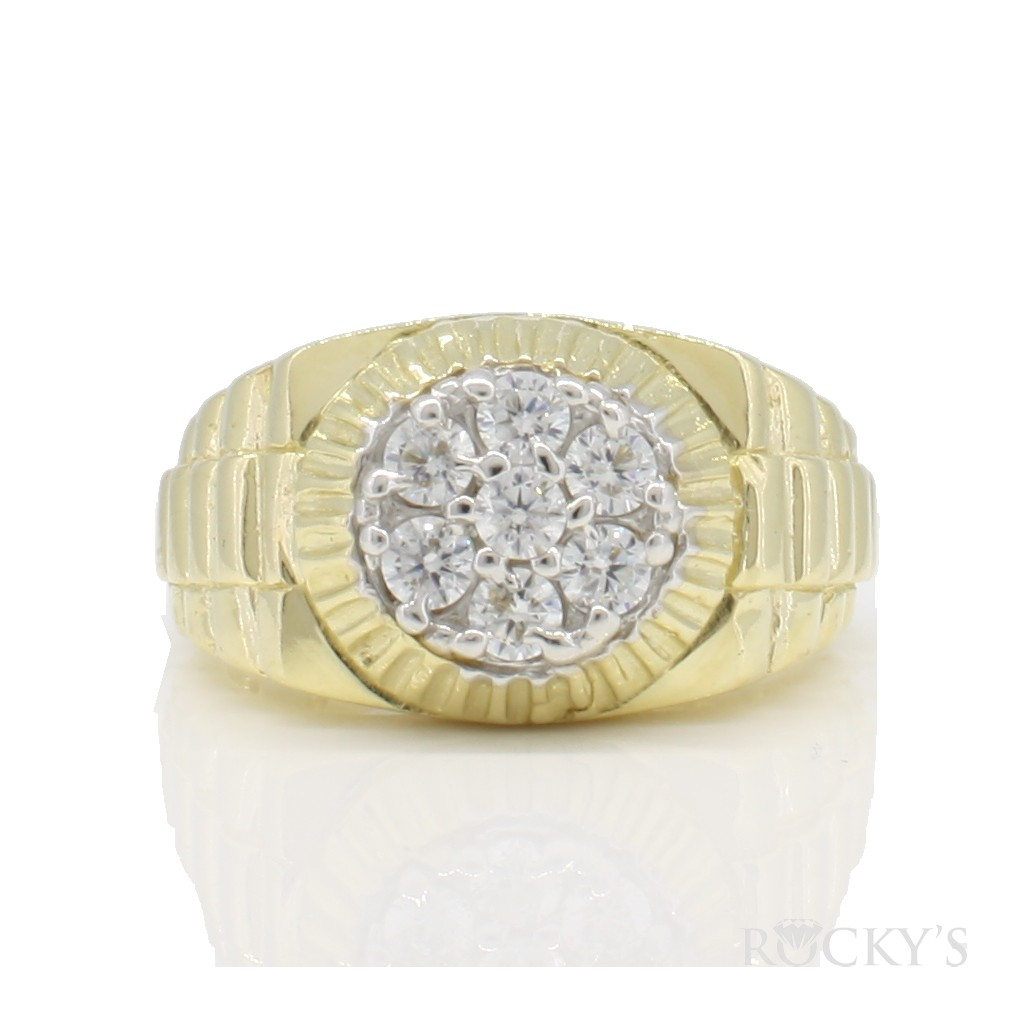 10k yellow gold ring for men