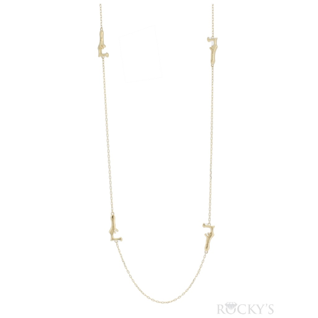 14K yellow gold Cayman by yard necklace 22 inches
