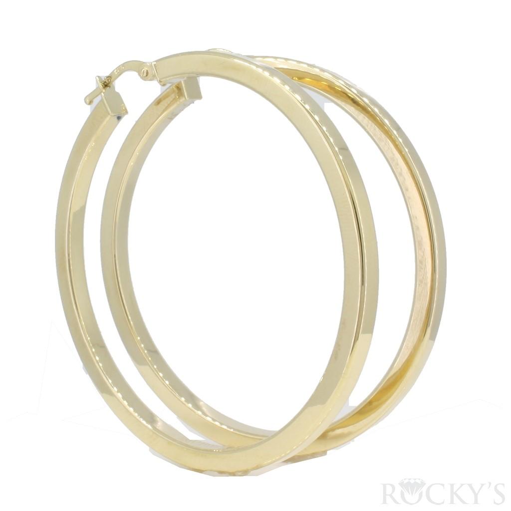 10k yellow gold hoops earrings- 38732