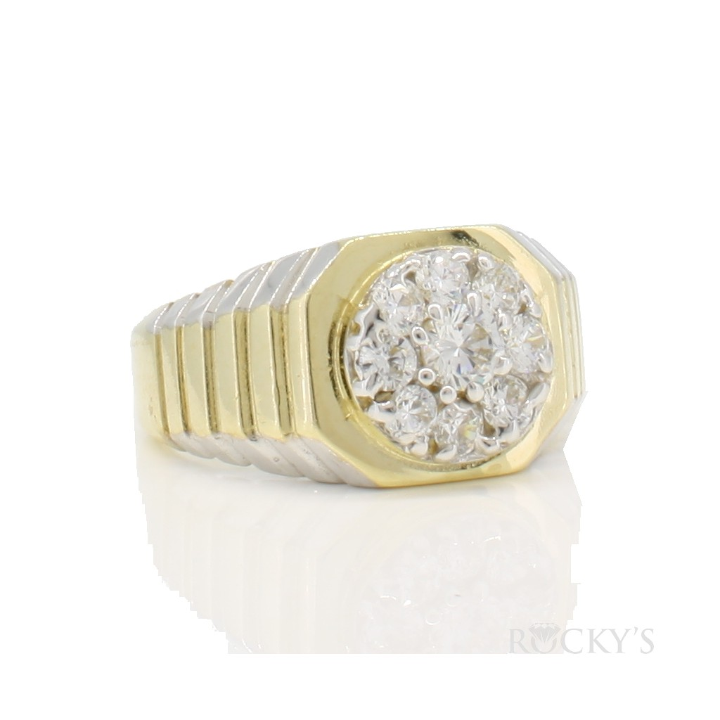10k yellow gold men's ring  - 38709