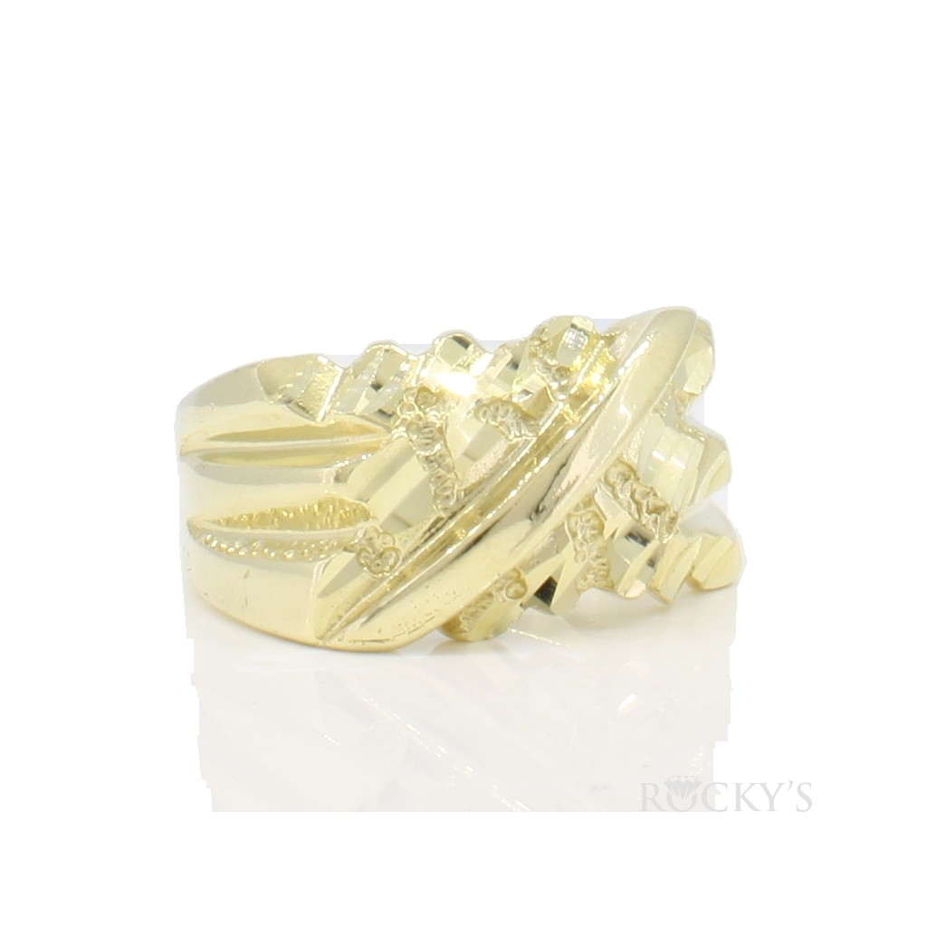 10k yellow gold men's ring  - 38708