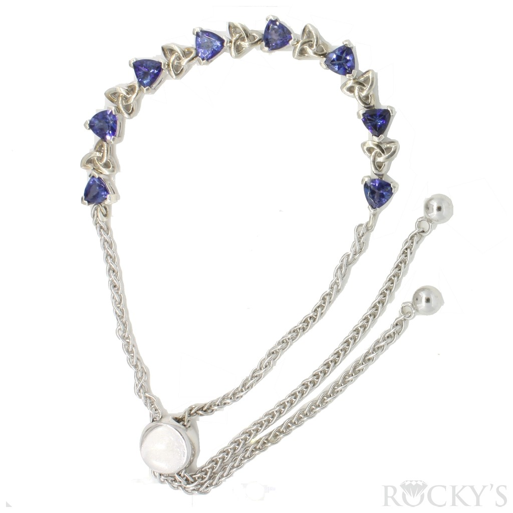 Tanzanite silver bracelet with 1.80 carats