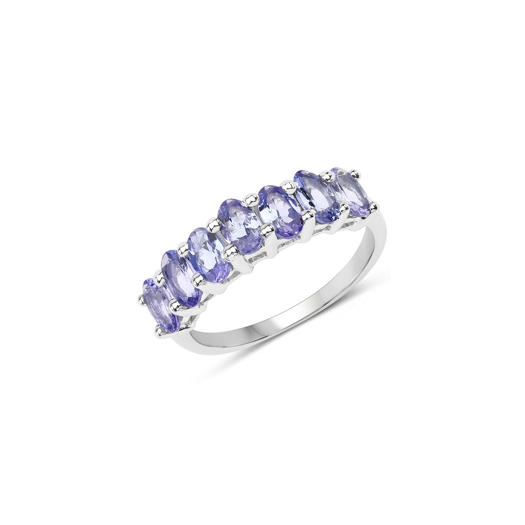 925 Sterling Silver 1.75 Carat Genuine Tanzanite Ring.