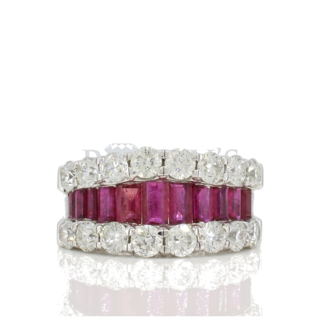 Ruby diamond ring with 5.00 carats