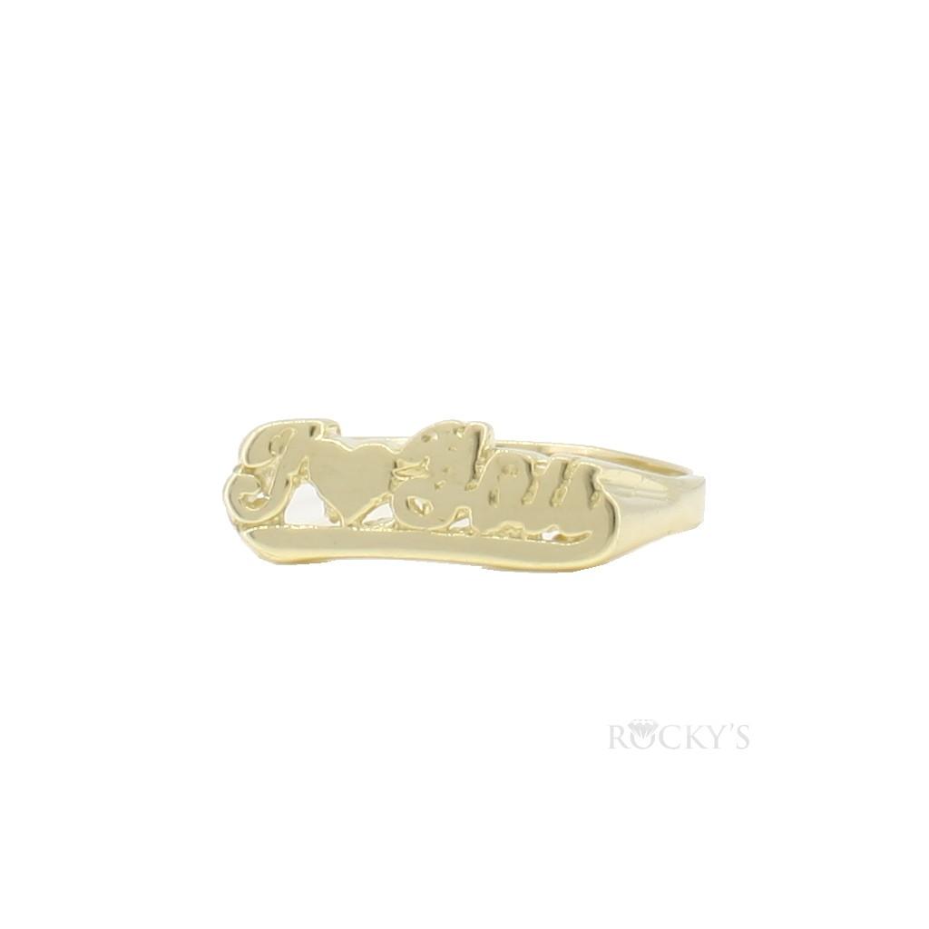 10k yellow gold ladies ring