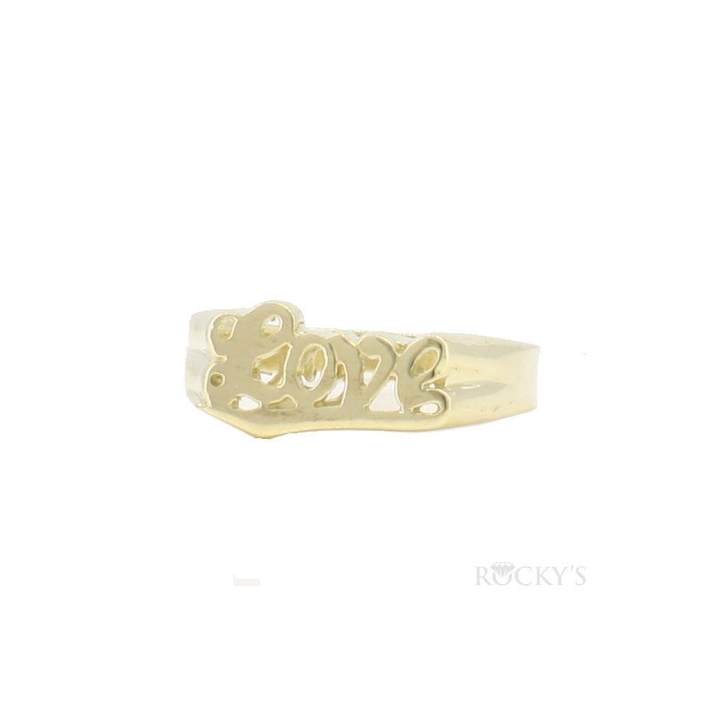 """10k yellow gold ladies ring """"love"""""""
