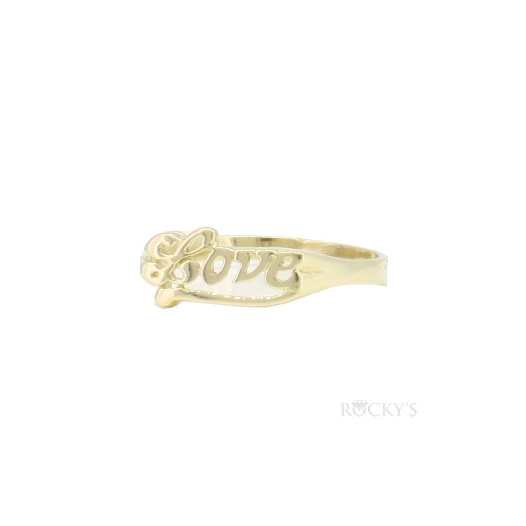 """10k yellow gold ladies ring """"love"""" - 39092"""