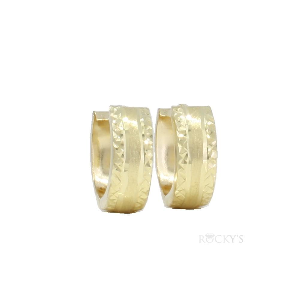 10K yellow gold huggie earring - 39760