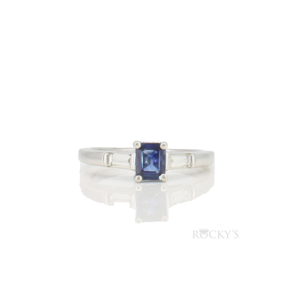 14k sapphire and diamond ring with 0.63ct