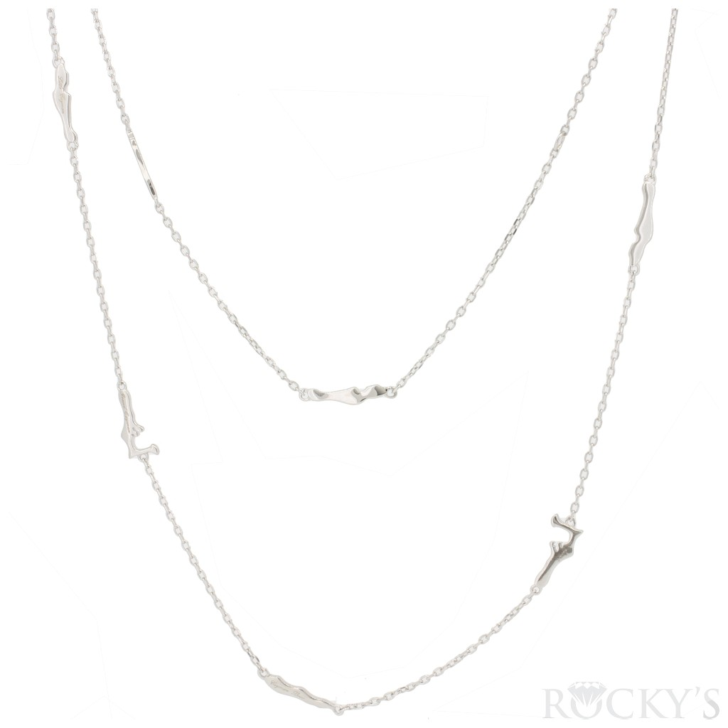 Silver cayman island by yard necklace