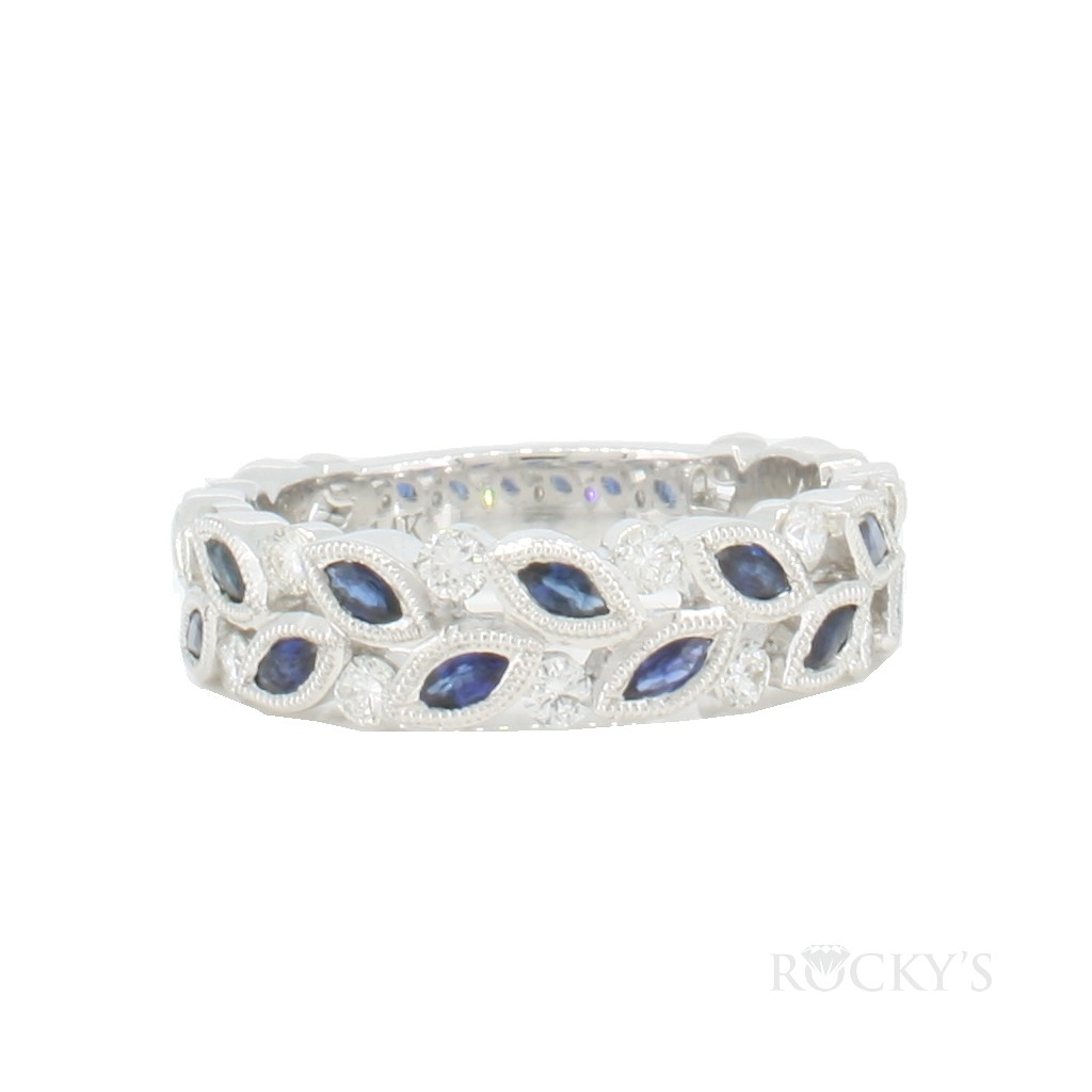 14K white gold stackable...