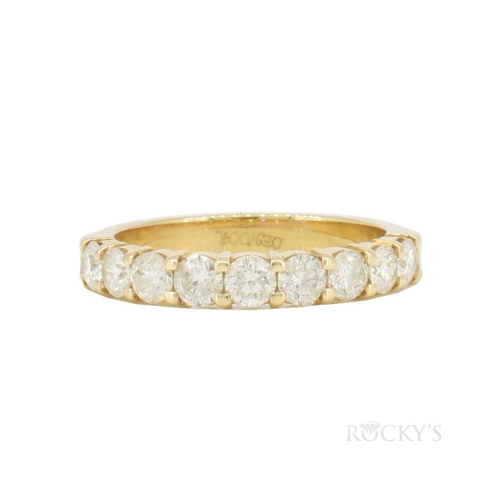 14k yellow gold wedding diamond band with 1.00ct