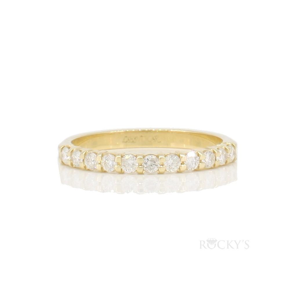 14k yellow gold wedding diamond band with 0.35ct