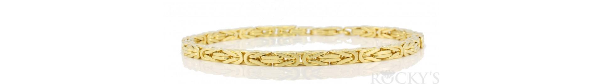 Plain Gold Bracelets and Anklets